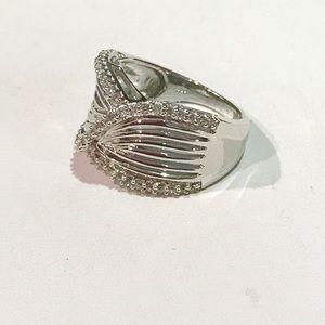 Jewelry - Nwot 1.02 Genuine diamond 925 cocktail ring